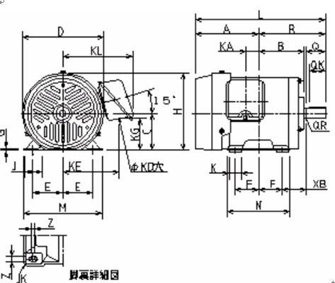 日本东芝ik.ikk三相异步电动机